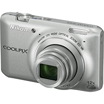 Nikon Coolpix S6400 Kompaktkamera (16 Megapixel, 12-fach opt. Zoom, 7,6 cm (3 Zoll) Touchscreen) silber