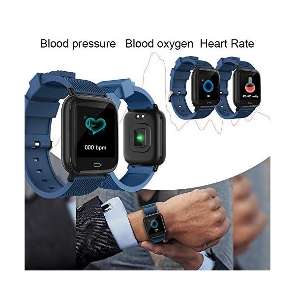 Ayete Smartwatch Fitness Tracker con frecuencia cardíaca Monitoreo de la presión Arterial Salud Deporte Reloj… 2