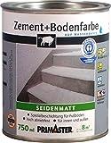 Primaster Zementfarbe und Bodenfarbe anthrazit RAL 7016 750 ml seidenmatt