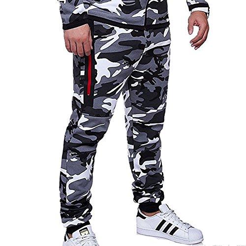 Pantalones Hombre Chándal Camuflaje Pantalones de Deporte Pantalones Jogging Slim Fit Pantalones Casuales Cómodos Modernos Yying
