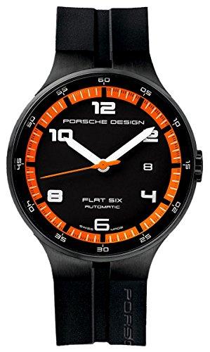 Porsche Design Watch Flat 6 P'6350 Automatic PVD - Black and Orange
