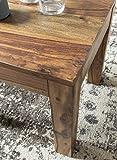 WOHNLING Couchtisch Massiv-Holz Sheesham 45 cm breit Wohnzimmer-Tisch Design dunkel-braun Landhaus-Stil Beistelltisch Natur-Produkt Wohnzimmermöbel Unikat modern Massivholzmöbel Echtholz rechteckig - 6
