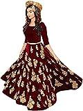 Yeoja Creatio Woman's Maroon Embroidered Velvet Lehenga Choli - Best Reviews Guide