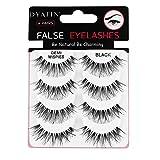 Natural 3D Fake Eye Lashes Multipack DYAFIN False Eyelashes Lightweight Handmade Long Lasting Eyelashes Black Full Cover No Glue, Suitable for Work/Date/Party (4 Pairs)-DFWSP