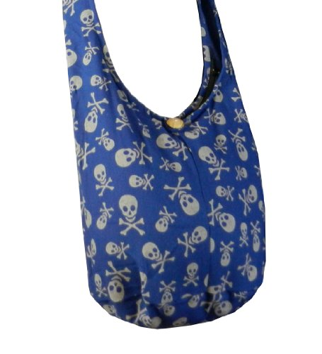 BenThai Products, Borsa a tracolla donna nero Green large Blue