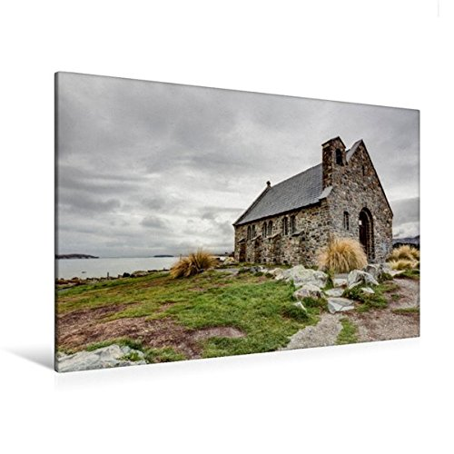 Calvendo Premium Textil-Leinwand 120 cm x 80 cm quer, Church of The Good Shepherd | Wandbild, Bild auf Keilrahmen, Fertigbild auf echter Leinwand, Leinwanddruck Natur Natur