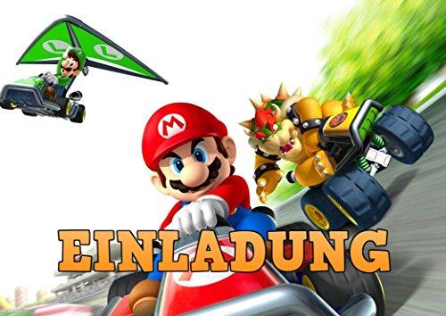 TV-24 Super Mario Einladungskarten 12er Set inkl. 12 Umschläge E6 (Bleistifte Mario Super)