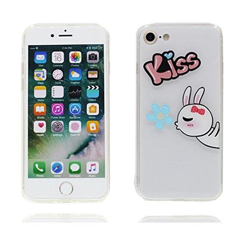 iPhone 6S Plus Copertura,iPhone 6 Plus Custodia,Caso grazioso del coniglio modello TPU Slim Fit Case Cover for iPhone 6S Plus /6 Plus 5.5 #5