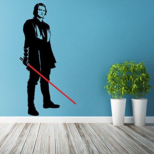 Machen Sie Ein Lichtschwert ((51x 100cm) Star Wars Vinyl Wand Aufkleber/Anakin Skywalker mit Lichtschwert die cut/Young Darth Vader Art Decor Sticker Selbstklebend + Gratis Aufkleber Geschenk macht.)