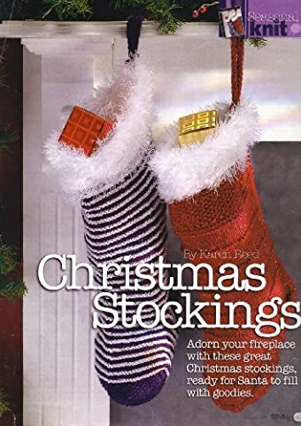 Christmas Stockings designed by Karen Reed Knitting Pattern: Measurements 16