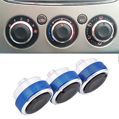 Preisvergleich Produktbild Boomboost Aluminiumlegierung Auto Klimaanlage Switch Knopf Schaltknopf betätigen Blau