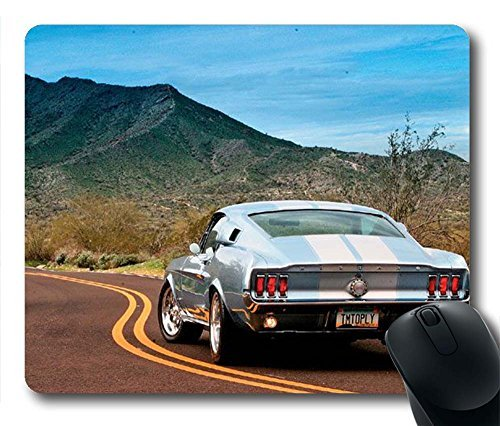 Gaming Mouse Pad, Ford Mustang Gastback Personalized MousePads Natural Eco Rubber Durable Design Computer Desk Stationery Accessories Gifts For Mouse Pads