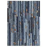 Tidyard Teppich Jeansflicken Patchwork Wohnzimmerteppich Balkon Teppiche Indoor Teppichläufer Jeansblau