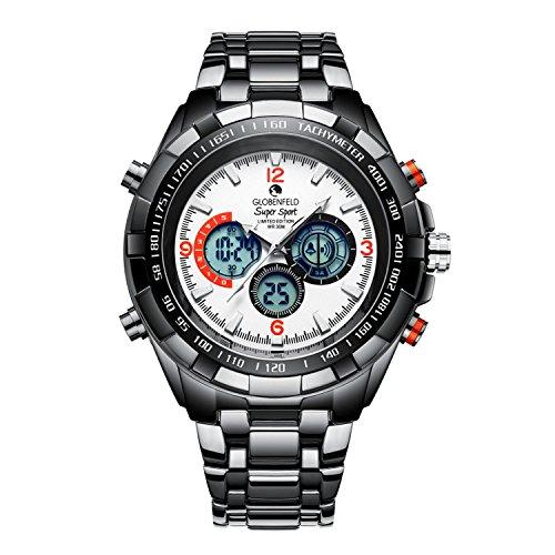 Globenfeld-Super-Sport--Mens-designer-watches-White-sport-watch-Limited-edition-Scratch-water-resistant-30m