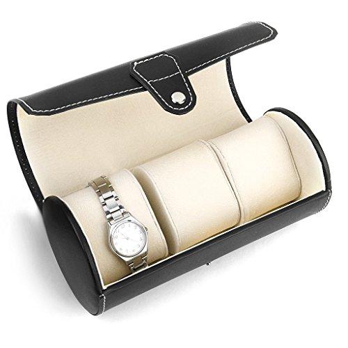 meyfdsyf-Cilindro-de-negro-3-Ranura-reloj-de-almacenamiento-joyas-caja-organizador-estuche-de-viaje-regalo-accesorios