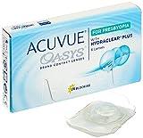 Acuvue Oasys Lentes de contacto multifocales quincenales, R 8.4, D 14.3, -2 dioptría, adición media - 6 lentillas