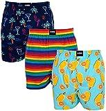 Happy Shorts 3 Webboxer Herren Boxer Motiv Boxershorts Design 8, Grösse:L - 6-52, Präzise Farbe:Design 8