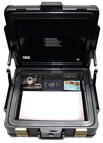 Honeywell 1104G Wasserdichter feuerfester Dokumentenkassette, 11 L, 60 Minuten Schutz mit Pneumatische Sicherheitsscharniere - 2