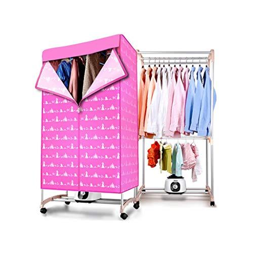 FORWIN UK- Secador silencioso de Ahorro de energía para el hogar, secador  Plegable Doble, Rejilla de Secado de Gran Capacidad (Princess Powder)
