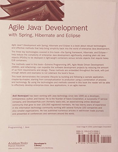 Agile Java Development with Spring, Hibernate and Eclipse (Developer's Library)