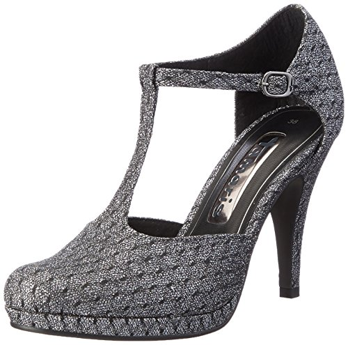 Tamaris Damen 24429 Pumps, Silber (Pewter Glam ST 916), 37 EU