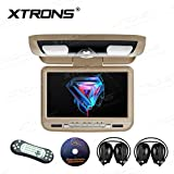 "XTRONS 9"" Overhead Car DVD Player Roof Flip Down with Swivel HD Digital"