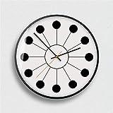 BBQBQ Orologio da Parete Tondo, Home Office, Soggiorno, Decorazione Cucina,Stile Nordico Moderno Popolare C misterioso Nero 14 Pollici