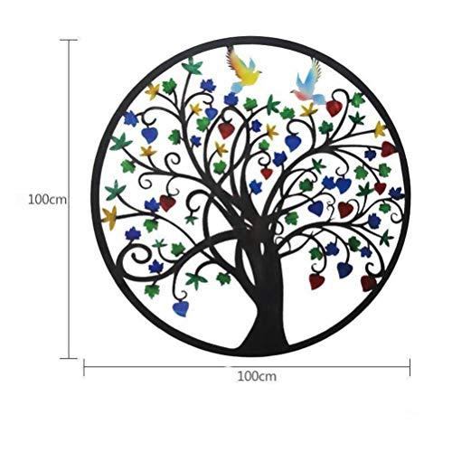O&YQ Schmiedeeisen Wanddekoration Reichen Baum Wanddekoration Kreative Wand Hängen Europäischen Ornamente Wohnzimmer Sofa Hintergrund Wand Wanddekoration, Gemalt, 100 * 100CM -
