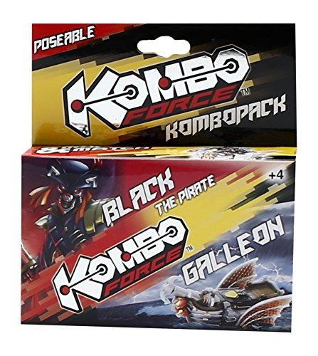 Giochi Preziosi - KomboForce, Personaggio Mix & Match Black con Veicolo Galleon, Multicolore
