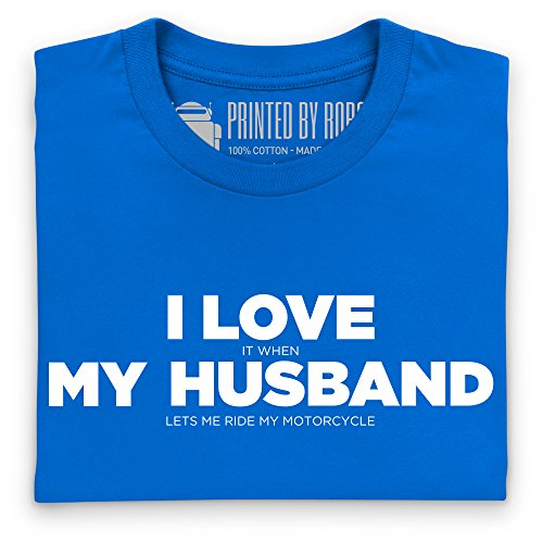 I Love My Motorcycle Hers T-Shirt, Herren Royalblau