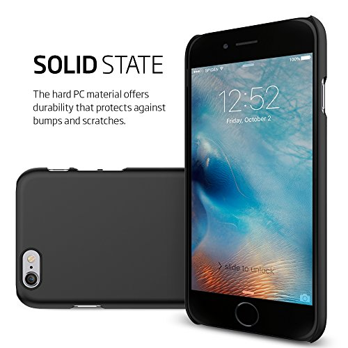 Coque iPhone 6s Plus, Spigen Coque iPhone 6 Plus [Thin Fit] Exact-Fit [Rose Gold] Premium Fini Mat Etui solide Coque pour iPhone 6 Plus (2014) / 6s Plus (2015) - Rose Gold (SGP11765) TF Black