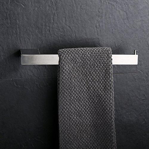 Homelody SS304 Edelstahl Handtuchhalter Handtuchstange Handtuchständer Wandhandtuchhalter Wand Handtuchstange Badetuchstange f.Badzimmer