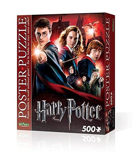 Wrebbit WPP-5001 - Puzzle Poster Hogwarts School, 500 Pezzi