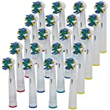Generic Electric Tooth Brush Heads Replacement for Braun Oral B Floss Action Eb25a Po 20pcs