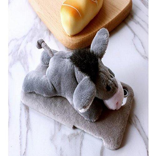 Lovely Cute 3D Plüsch Tier Puppe Spielzeug Plüsch Handy Schutzhülle für iPhone Backcover Monkey 7 Donkey 6