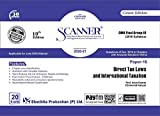 Scanner CMA Final Group - III (2016 Syllabus) Paper - 16 Direct Tax Laws and International Taxation (Green Edition) (Applicable for June 2020 Attempt)