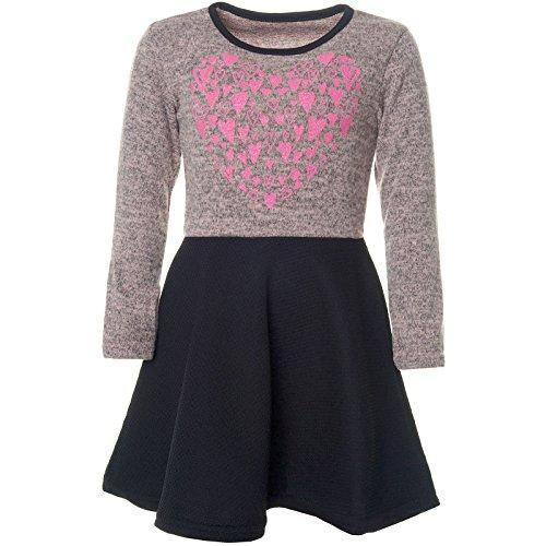 BEZLIT Mädchen Abend-Kleid Glitzer Motiv Freizeitkleid Kostüm 21528, Farbe:Rosa, Größe:104