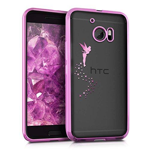kwmobile HTC 10 Hülle - Handyhülle für HTC 10 - Handy Case in Pink Transparent