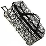 Karabar Large Super Lightweight Wheeled Holdalls - 3 Years Warranty! (30 Inch, Zebra Black)
