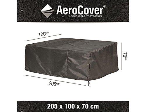 AeroCover Atmungsaktive, frostbeständige und Wasserdichte Schutzhülle in anthrazit für Lounge Möbel, in praktischer Tragetasche, 205 x 100 x 70 cm, 7961