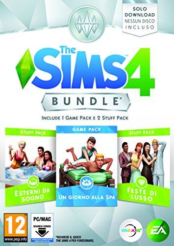 The sims 4 game & stuff pack 2: un giorno alla spa, esterni da sogno, feste di lusso - pc