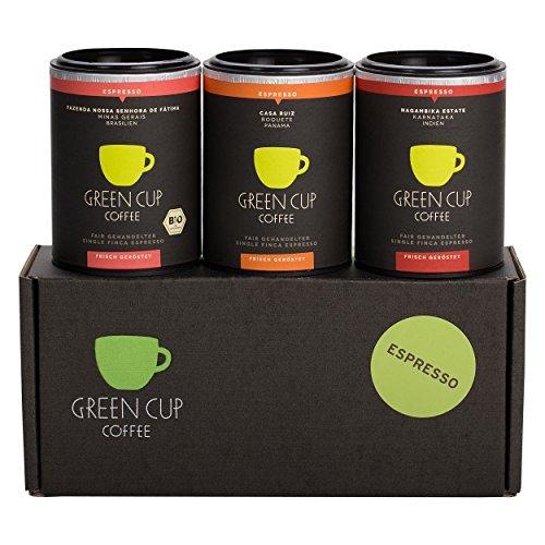 Green Cup Coffee Espresso Probierset - sortenreine, fair gehandelte Arabica Espressobohnen in...
