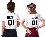 Best Regalos amigo camisetas - Mejores Amigas T-Shirt Best Friends Camiseta 2 Piezas Review