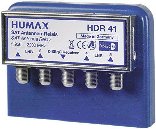 HUMAX Digital 4x1 Wetterschutzgehäuse DiSEqC Umschalter für 4 Satelliten auf Empfänger