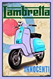 Lambretta innocenti vespa scotter roller schild auch blech, metal sign, deko schild,