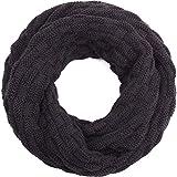 Compagno Winter-Schal Loop-Schal für Herren und Damen Strick-Schal Herren-Schal Damen-Schal, SCHAL Farbe:Schwarz