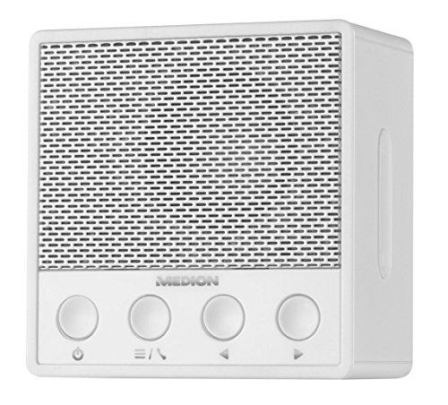 MEDION MD 84979 Steckdosenradio mit Bluetooth 4.1, NFC, UKW PLL Radio, Lautsprecher mit Freisprech-Funktion, Miniradio, weiss