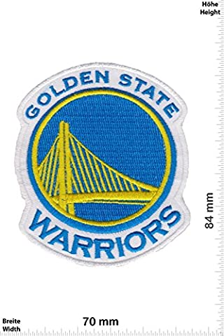 Patches - Golden State Warriors - Basketball-Mannschaft - NBA - Sports - extreme sports - Vest - Iron on Patch - Applique embroidery Écusson brodé Costume Cadeau- Give Away