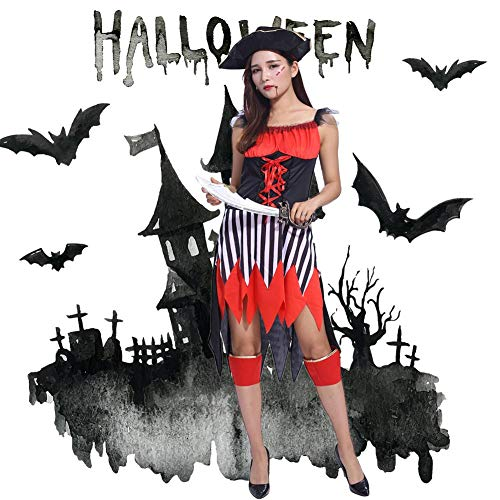 Damen Piraten Kostüm Halloween Wench Kostüm Outfit