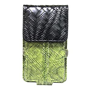 Jo Jo A6 Bali Series Leather Pouch Holster Case For Celkon Signature One A107+ Green Black